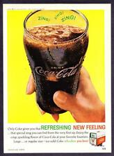 """1962 Coca-Cola Classic Glass photo """"That Special ZING!"""" Coke vintage print ad"""