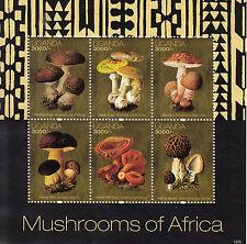 Uganda 2012 Mnh Hongos De África 6v m/s leche PAC Colorete Bollo Morel