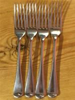 4 X Antique Edwardian Rodgers EPNS Silver Plated Table Forks  (12 Available)