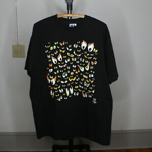 90s Stadium Court Halloween Scary Eyes T Shirt XL Made in USA