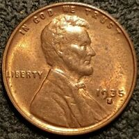 1935 S Lincoln Cent Wheat Penny 1c BU Extra Fine Uncirculated Coin - P2224
