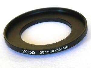 STEP UP ADAPTER 38.1MM-55MM STEPPING RING 38.1MM TO 55MM 38.1-55 FILTER ADAPTER