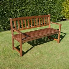 BillyOh Traditional 3 Seater Acacia Hardwood Furniture Wooden Chair Bench