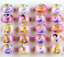 Wholesale 100 Pcs Mix Resin Round Disney Princess Children Rings gifts J-01