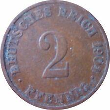 J  11   2 Pfennig KAISERREICH  1904 J in SS  1502369