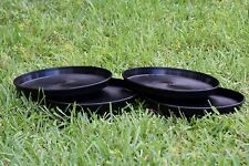 "TopoLite 12"" 24-pack Plant Pot Saucer Round Black Plastic Flower Container Trays"