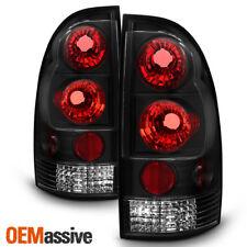 Fits 05-15 Toyota Tacoma Pickup Truck Black Bezel Rear Tail Lights Brake Lamps