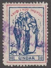 Albania Supplemental Tax Revenue Barefoot #6 used 10Q Red Cross 1927 cv $7