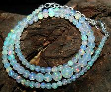 "31Crt 100%Natural Ethiopian Welo Fire Opal Balls Gemstone Necklace ""17"" #i46"