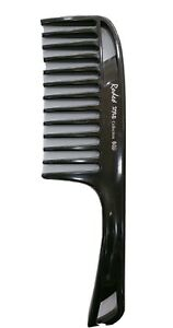 Rodeo 040 Large Wide Toothed Comb Curly Hair Hairdressing Tool Unisex (Black)