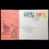 Hong Kong 1965 International Telecommunication Union 2 Stamp Set On FDC