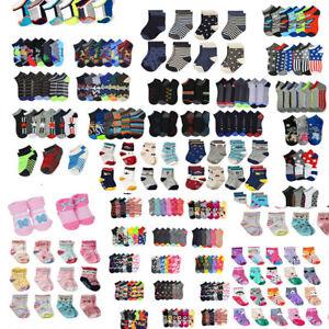24 Pair Pack Lot Kid Ankle Low Cut Casual Multi Colors Socks Toddler Boy Girl