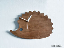 Cute Hedgehog - Wooden Wall Clock