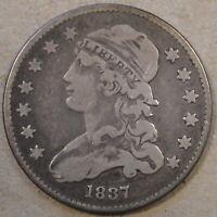 1837 Capped Bust Quarter 25c F-VF