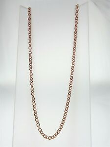 9K ROSE GOLD ROUND CABLE CHAIN 50CM 4.30G
