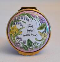 Halcyon Days Enamels Mother's Day 1987 For You With Love Trinket Box
