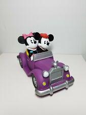 DISNEY Coin Bank JUST MARRIED Mickey & Minnie Bride & Groom Wedding Figurine