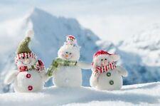 7x5ft Snowman Snow Mountain Backdrop Background Photography Studio Vinyl Props