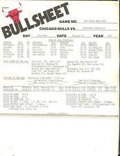 Chicago Bulls Bullsheet January 17 1981 vs. Cleveland Cavaliers 122216jh