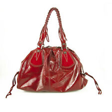 Francesco Biasia Red Patent Leather Satchel Shoulder Bag Handbag