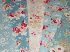 Tilda Stoffpaket 5 Stoffe Blau Grün Lucille 5x20x30cm Patchworkstoff Quiltstoff