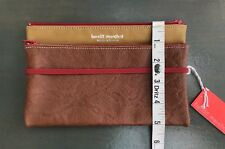 BANDIT MANCHOT ~ France Leather Brown Fold & Zip Wallet Or Satchel
