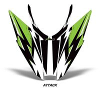 Sled Hood Graphics Kit Decal Wrap For Arctic Cat Pro Climb Cross 12-16 ATTK GRN