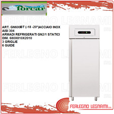 Cabinet Chilled Gn2/1 Static Stainless Steel Aisi 304 18 -20°) Forcar Gn600Bt