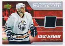 2006-07 UD GAME JERSEY SERGEI SAMSONOV JERSEY 1 COLOR MONTREAL CANADIENS #J-SS
