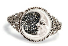 NEW SWEET ROMANCE CELESTIAL CRESCENT MOON BANGLE / CUFF  BRACELET