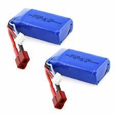 2Pcs 7.4V 1500mAh Batería Lipo para WLtoys A959-B A969-B A979-B K929-B RC Coche