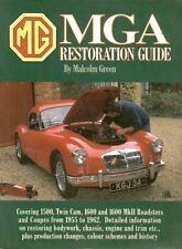 MG MGA 1500 1600 Inc MK2 & TWIN CAM 1955-meccanica & carrozzeria LIBRO DI RESTAURO
