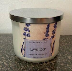 Bath & Body Works Lavender Lavander 3 Wick 14.5 Ounce Candle