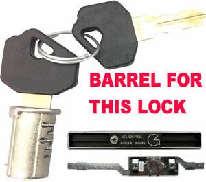 GLIDEROL Garage Roller Shutter Door Lock BARREL & 2 Keys Glider Roll OLD STYLE