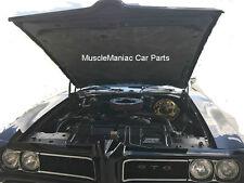 1968-1970 GTO RIGID FIBERGLASS MOLDED HOOD INSULATION PAD w/ CLIPS 68 69 70