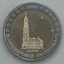 2 Euro Deutschland D 2008 Michel Hamburg unz
