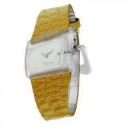 Orologio ROBERTO CAVALLI mod. CURVI ref. R7251102825 Donna in pelle arancione