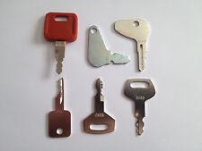 Set of (6) Case IH Bobcat Ingersol-Rand IR Linkbelt JCB Terex Equipment Keys