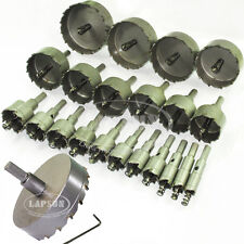23pc Hole Saw Set Steel Carbide Tipped Tip Drill Bit TCT Metal Wood Alloy Cutter
