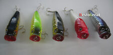 5PCS Flishing Crankbaits Lures Lure Popper 90mm 14g