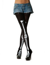 Opaque Skeleton Legs Tights for Halloween and fancy Dress