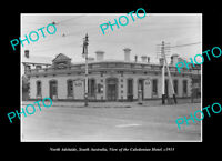 OLD POSTCARD SIZE PHOTO NORTH ADELAIDE SOUTH AUSTRALIA, CALEDONIAN HOTEL 1913