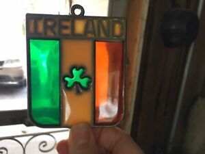 Glass Sun Catcher, Ireland Shamrock
