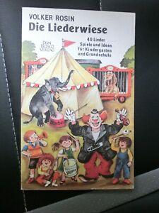 Die Liederwiese, Lieder und Spiele für Kiga und GS, Volker Rosin, 1988