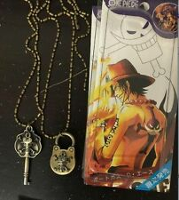 One Piece Luffy Bone Couple Openable Brass Lock Key Necklace Pendant Cosplay