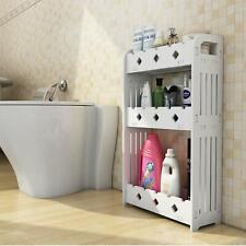Bathroom Shelf 3 Tier Wood Plastic Wall Bath Rack Storage Organizer Holder
