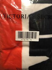Victoria Secret Pink Sherpa Blanket Throw 60� x 50� Candy Apple Red Logo New!
