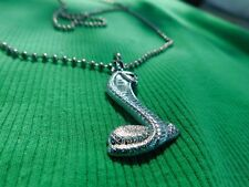 FORD MUSTANG SVT COBRA FAIRLANE TORINO SHELBY COILED SNAKE NECKLACE SILVER