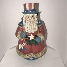 Midwest Of Cannon Falls Patriotic Santa Usa Uncle Sam Flag Resin Christmas