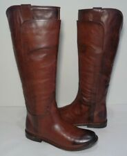 Frye Size 5.5 M PAIGE TALL RIDING Redwood Leather Boots New Womens Shoes